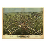 Westfield Massachusetts 1875 Antique Panoramic Map Poster