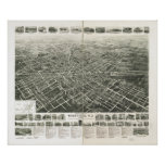 Westfield New Jersey 1929 Antique Panoramic Map Posters