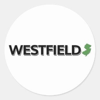 Westfield, New Jersey Classic Round Sticker
