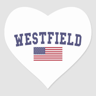 Westfield US Flag Heart Sticker