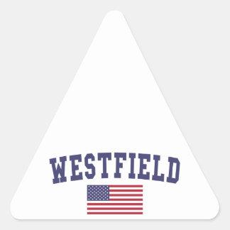Westfield US Flag Triangle Sticker