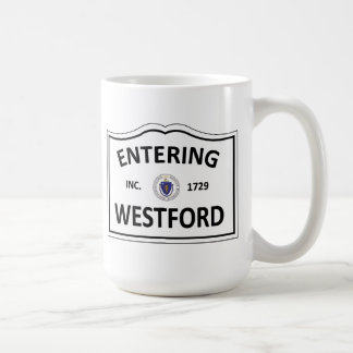 WESTFORD MASSACHUSETTS Hometown Mass MA Townie Coffee Mug