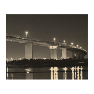 Westgate bridge wood print