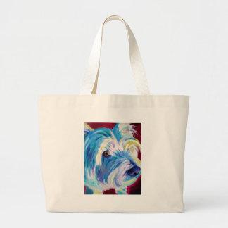 Westie #1 tote bags