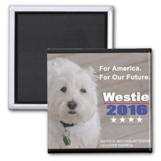 Westie 2016 Political Parody Magnet