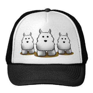 Westie Alpha Dog Trucker's Cap Mesh Hats