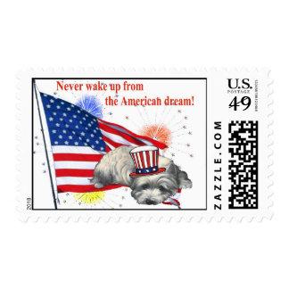 Westie – American Dream Postage Stamp