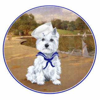 Westie and Sailboats Cut Outs