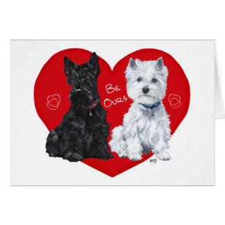Westie and Scottie Valentine Card