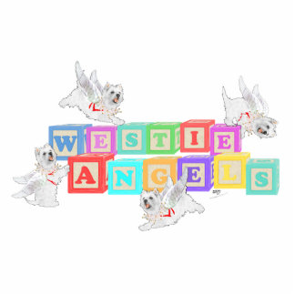 Westie Angel Blocks Cutout