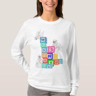 Westie Angel Blocks T-Shirt