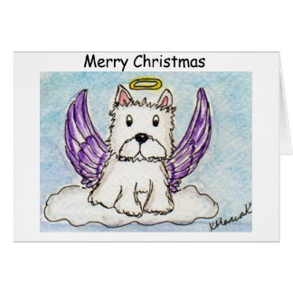 Westie Angel Christmas card friend wife daughter