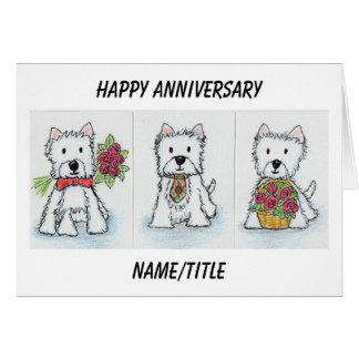 Westie Anniversary card wife mum dad husband