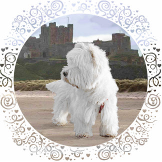 Westie at Bamburgh Castle Statuette