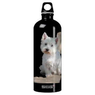 WESTIE AT THE GATE ALUMINUM WATER BOTTLE