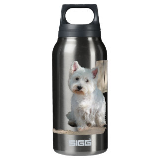 WESTIE AT THE GATE INSULATED WATER BOTTLE