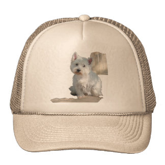 WESTIE AT THE GATE TRUCKER HAT