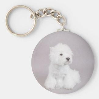 Westie Basic Round Button Keychain