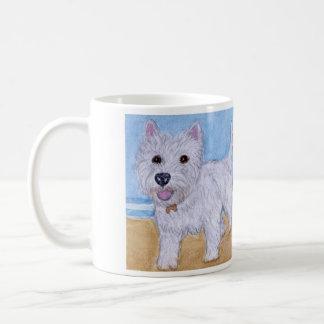 Westie beach lovely mug birthday Christmas family