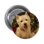 Westie Bestie Christmas Mug Buttons
