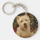 Westie Bestie Christmas Mug Keychain