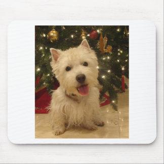 Westie Bestie Christmas Mug Mouse Pad