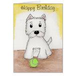 Westie Birthday art card friend husband wife etc