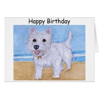 Westie Birthday card wife husband friend