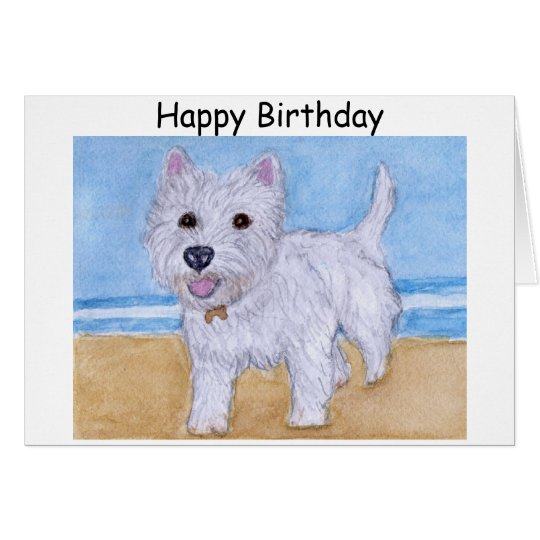 Westie Birthday Card Wife Husband Friend Zazzle