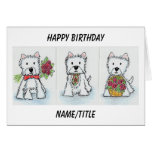 Westie Birthday card wife sister friend daughter