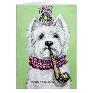 Westie Birthday Party Greeting Cards