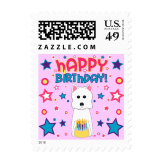 Westie Birthday Postage Stamp