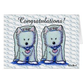 Westie Bride Duo Wedding Card
