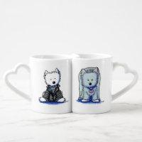 Westie Bride & Groom Sweetheart Mugs