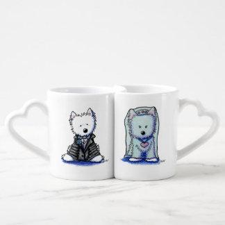 Westie Bride & Groom Sweetheart Mugs Couples Mug