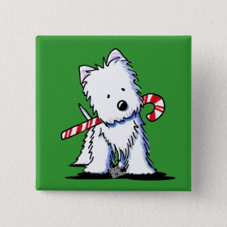 Westie Candy Cane Cutie Pin Button