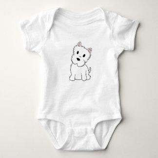 westie cartoon baby bodysuit