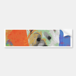 WESTIE CELEBRATION CAR BUMPER STICKER
