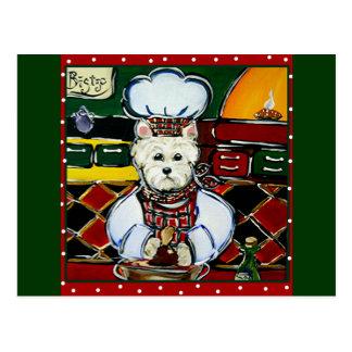 Westie Chef Post Cards