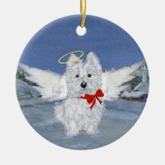 Westie Christmas Angel Ornament