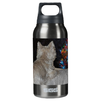WESTIE CHRISTMAS AWE INSULATED WATER BOTTLE