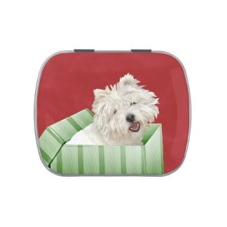 Westie Christmas Candy Tin