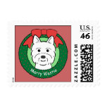 Westie Christmas Postage Stamps