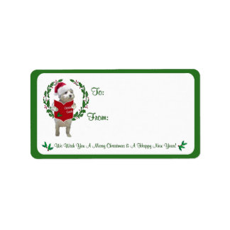 Westie Christmas Wishes Gift Tag Stickers