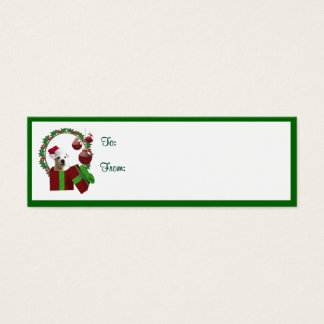 Westie Christmas Wishes Gift Tags #2