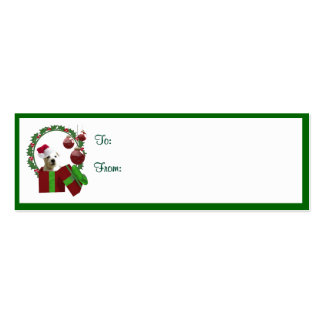 Westie Christmas Wishes Gift Tags Business Card Templates