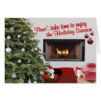Westie Christmas Wishes Greeting Card