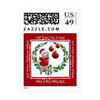 Westie Christmas Wishes Postage Stamp