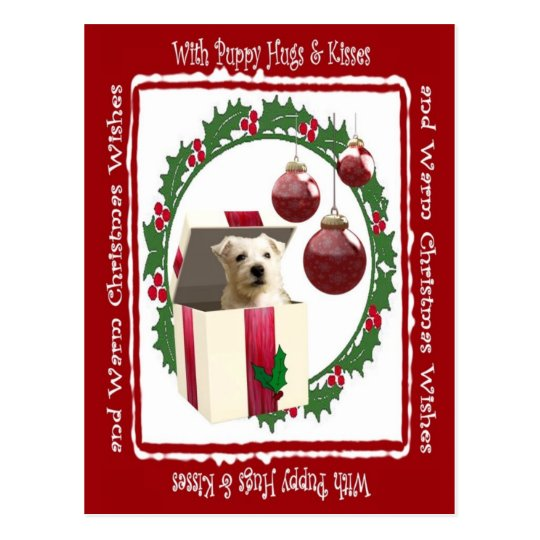 Westie Christmas Wishes Postcard #3