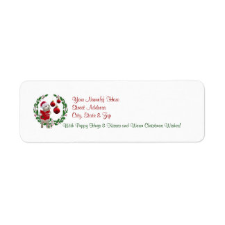 Westie Christmas Wishes Return Address Labels